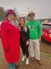 BBC Children in Need Big Learner Relay leaves from Daventry