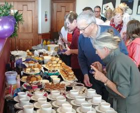 Mayor attends Purple for Polio Tea Party