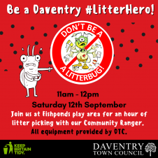 Get Involved in Daventry Town Councils Litter Picking Scheme