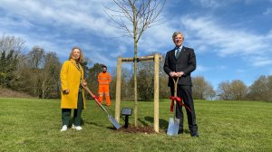 The High Sheriff of Northamptonshire plants a symbol of hope for the people of Daventry