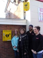 Town Council Community Grant helps funds Life Saving Defibrillator
