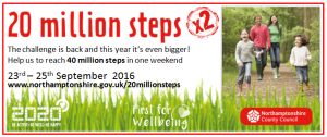 Daventry Town Council Get Walking to Help County Reach 20 Million Steps Target