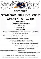 Stargazing Live comes to Daventry