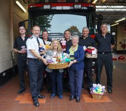 Trauma teddy handover to provide comfort in difficult times
