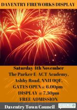 Daventry Town Fireworks Display 2017
