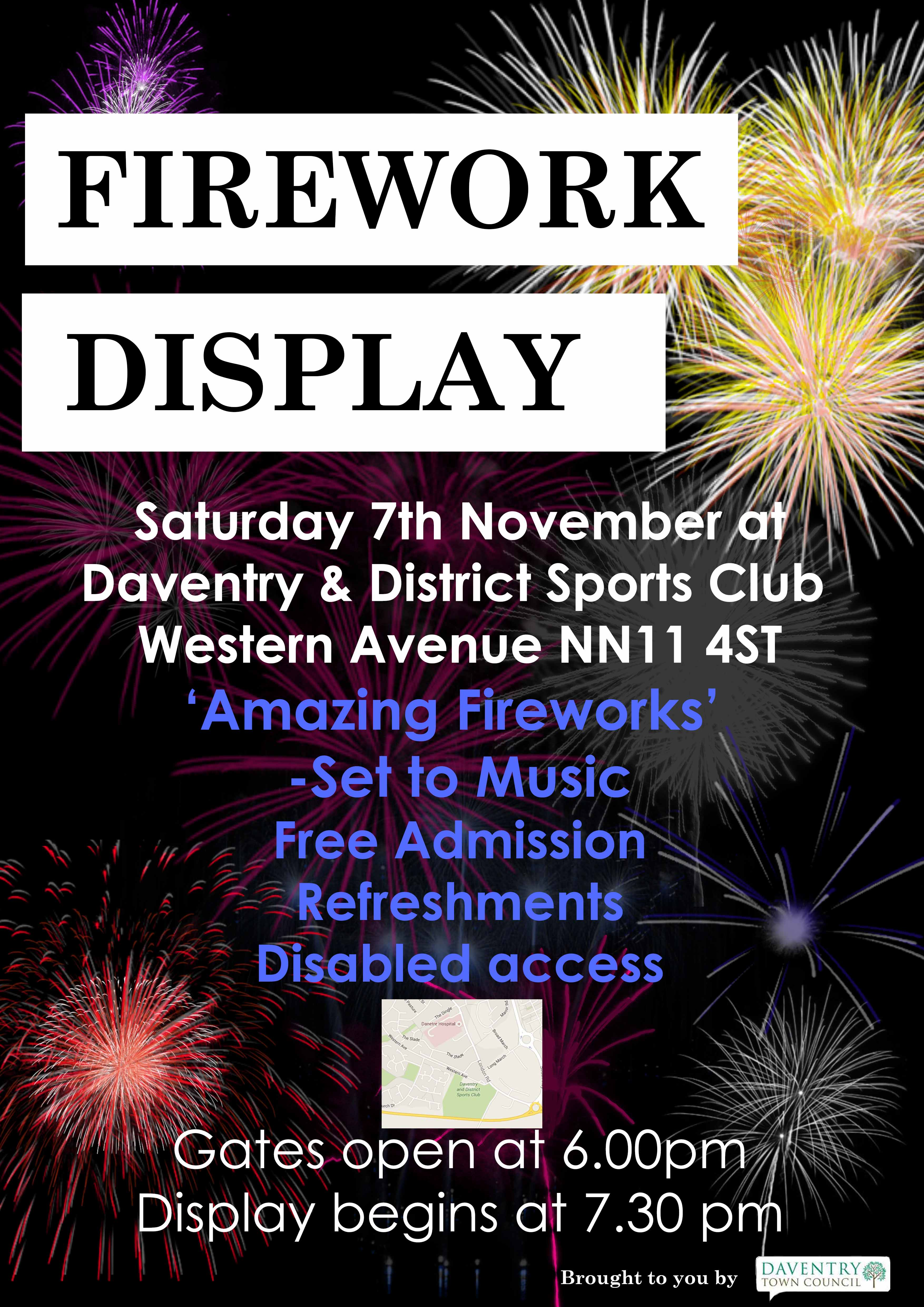 daventry s annual firework display daventry town council